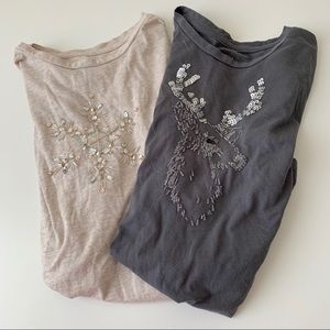 2 Merona holiday shirts,
